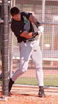 Jose taking Spring Training BP for the first time in 1999 (SP Times)