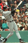 Jose launches his 6th homer of the year from Fenway on 4/18/99 (AP)
