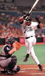 Jose getting hit with a pitch on 5/22/99 (AP)