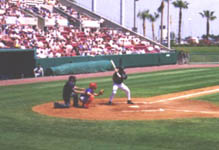 Jose at the plate during a game