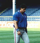 Jose walking to the dugout in Detroit