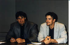 Jose and Alex Gonzalez at a charity luncheon in Toronto